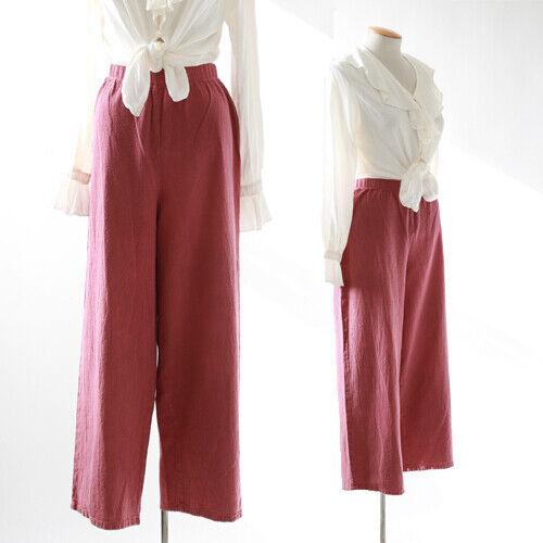 Vintage 90s rouge pink cotton cropped slacks pants