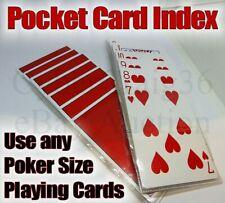 Q5 POCKET CARD INDEX Prediction Mental Magic Trick Set of 2 Playing Deck File