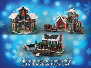 LEGO-Winter-Village-Sets-Bundle-2-INSTRUCTIONS-ONLY-for-LEGO-Bricks-Christmas