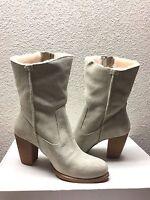 Ugg Lynda Natural High Heel Suede Boots Us 6.5 / Eu 37.5 / Uk 5 -