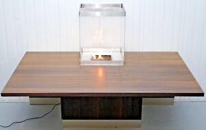 Tavoli Da Pranzo Grandi.1 3 Rrp 3800 Large Hardwood Dining Tables With Glass Cased Fire Pit
