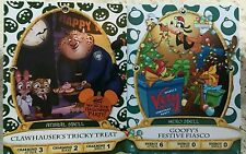 Sorcerers Of The Magic Kingdom Clawhauser and Goofy Party Cards #09P and #10P