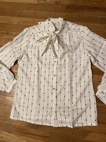 Vintage 1970s JCPenny Pussy Bow Blouse