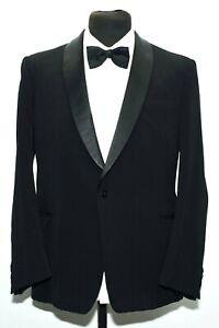 Objectif Exceptionnel Tailleur Vintage Châle Revers Noir Dj Veste De Smoking 40 R 1960 S-afficher Le Titre D'origine