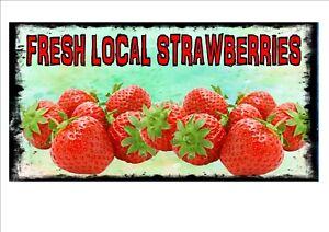 Cafe Sign Vintage Style Cafe Sign Shop Sign Fruit /& Veg Kitchen Sign Strawberry