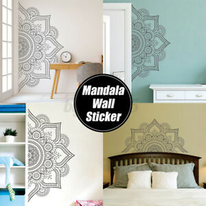 2-SIzes-Mandala-In-Half-Wall-Sticker-Removable-Wall-Decal-Sticker-For