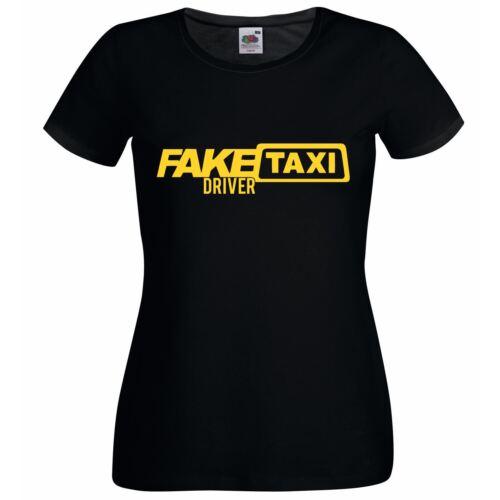 Ladies Black Funny Female Fake Taxi Driver T-Shirt Womens Printed Tshirt UK