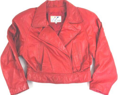 læderjakke L Wilsons Vintage af Punk Women's rød x5Fn1ngqw8