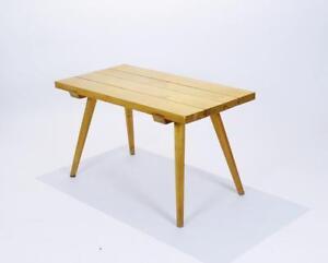 Vintage-Mid-Century-Rustic-Plank-Coffee-Table-Hungary-1950