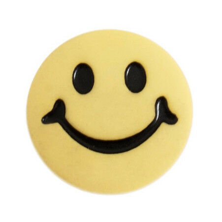 100x Smiley Face Button 24 lignes//15mm Yellow Sewing Craft Tool Hobby