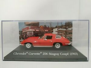 1-43-CHEVROLET-CORVETTE-Z06-STINGRAY-COUPE-IXO-1963-METAL-ESCALA-SCALE-DIECAST