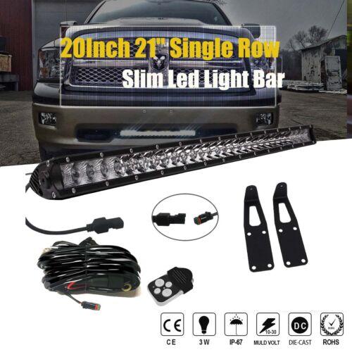 """DOT 03-17Dodge Ram 2500//3500 20/""""100W LED Light Bar+Hidden Bumper bracket+Wirings"""