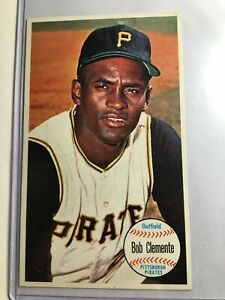 1964-Topps-Giants-11-Roberto-Bob-Clemente-Ex-NM-Pittsburgh-Pirates-HOF