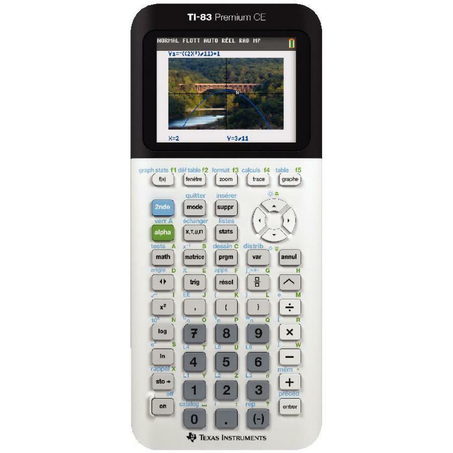 TEXAS INSTRUMENTS Calculatrice graphique TI-83 Premium Premium Premium CE 222678