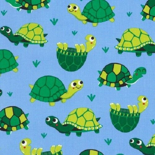 100/% cotton Timeless Treasures  6714 Turtles Fabric fat 1//4s