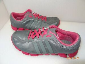 Adidas-Women-039-s-Gray-Pink-Sneakers-Size-7