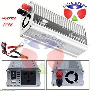 INVERTER-1000W-12V-220V-TRASFORMATORE-AUTO-CAMPER-PRESA-USB-BARCA-POWER