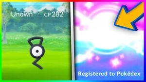 Details about Pokemon GO 7x RARE Unown C H U S E O K No Ban No Slash  account Limited time