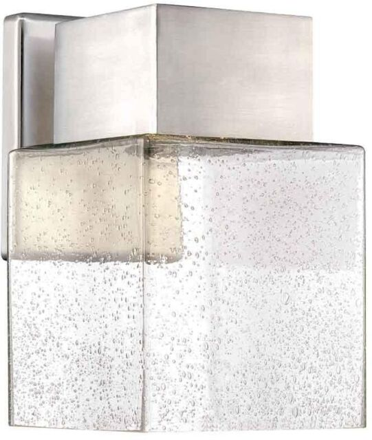 Home Decorators Collection Essex Outdoor Led Powered Wall Lantern Brushed Nickel For Sale Online Ebay