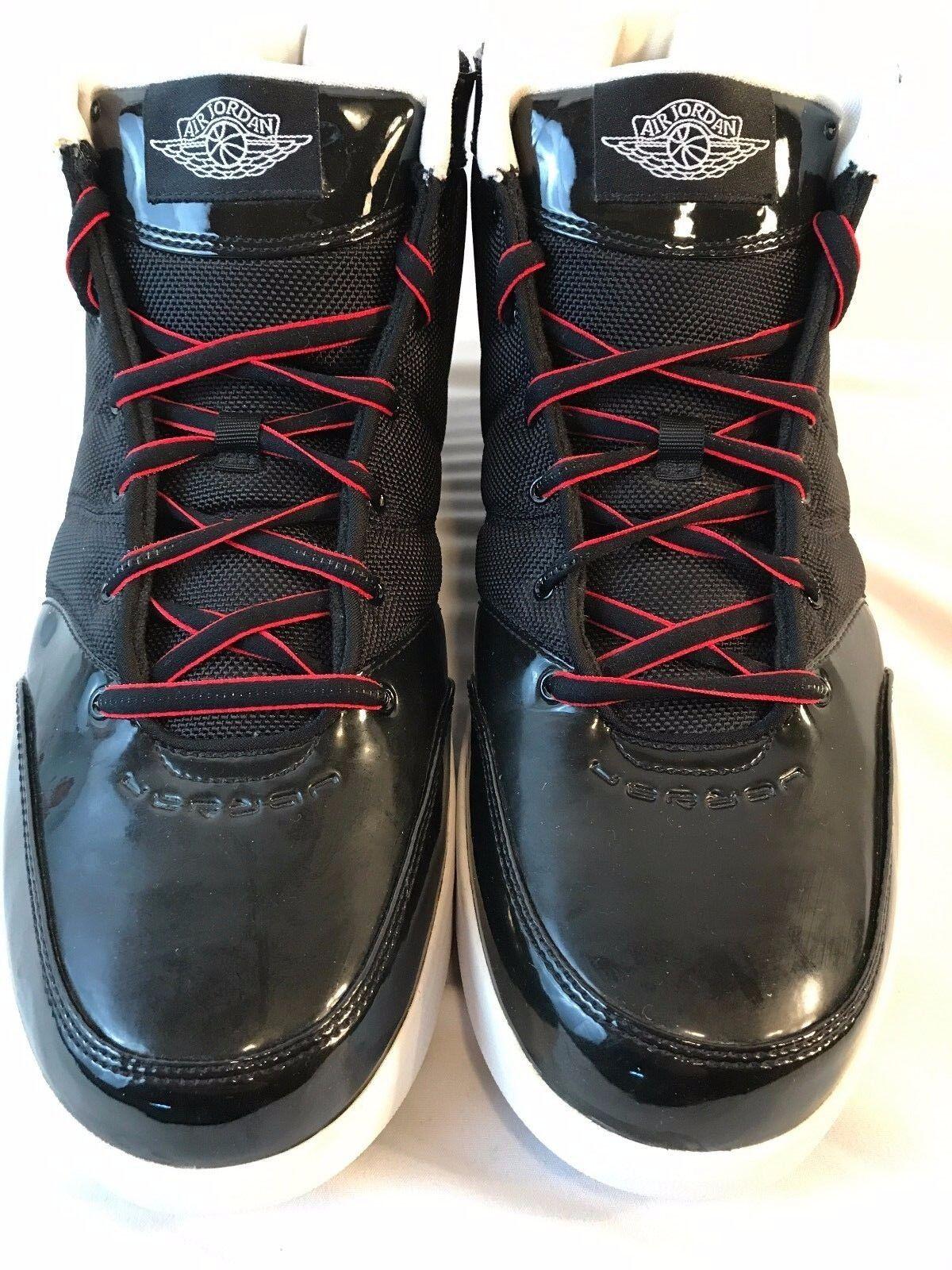 Nike Air Jordan Retro Shoes Black & White Mens Sz 12
