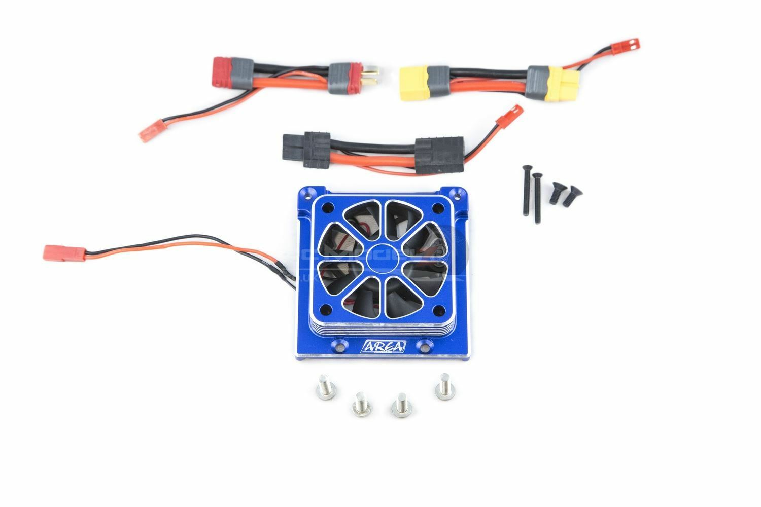 Area RC High Power Motor Radiator - bluee Traxxas X-Maxx Upgrade Part