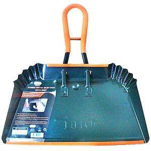 17 Inch Jumbo Metal Dust Pan With Grip Heavy Duty Dustpan