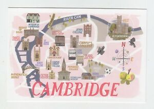Mint-Map-Postcard-of-Cambridge-by-Star-Editions