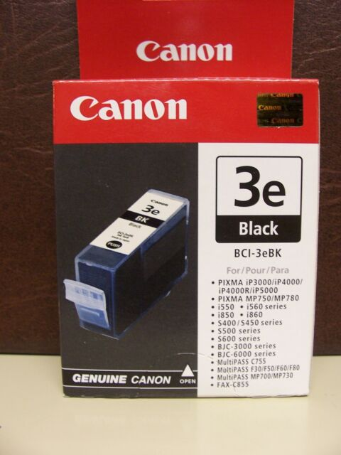 Lot of 2 Canon BCI-3e BCI-3ebk BK Black Ink GENUINE NEW