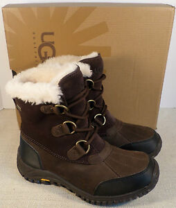 7dce1dbd769 Details about UGG 1008125 OSTRANDER BROWN LEATHER WINTER BOOTS NEW IN BOX