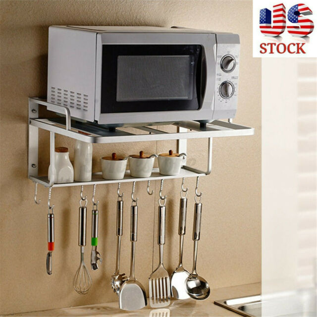 Microwave Oven Wall Mount Shelf