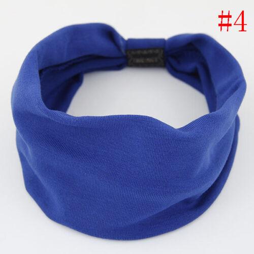 Damen Mädchen Mode Haarband Stirnband Kopfschmuck Yoga Schweißband NEU