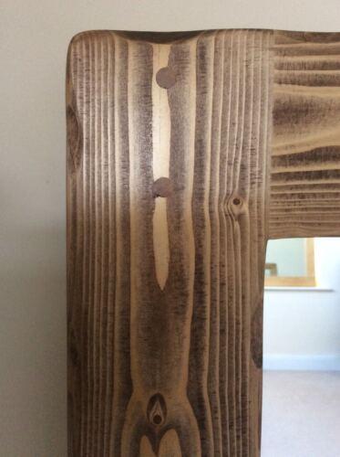* Belle qualité fait main massif rustique pleine longueur miroir en bois *