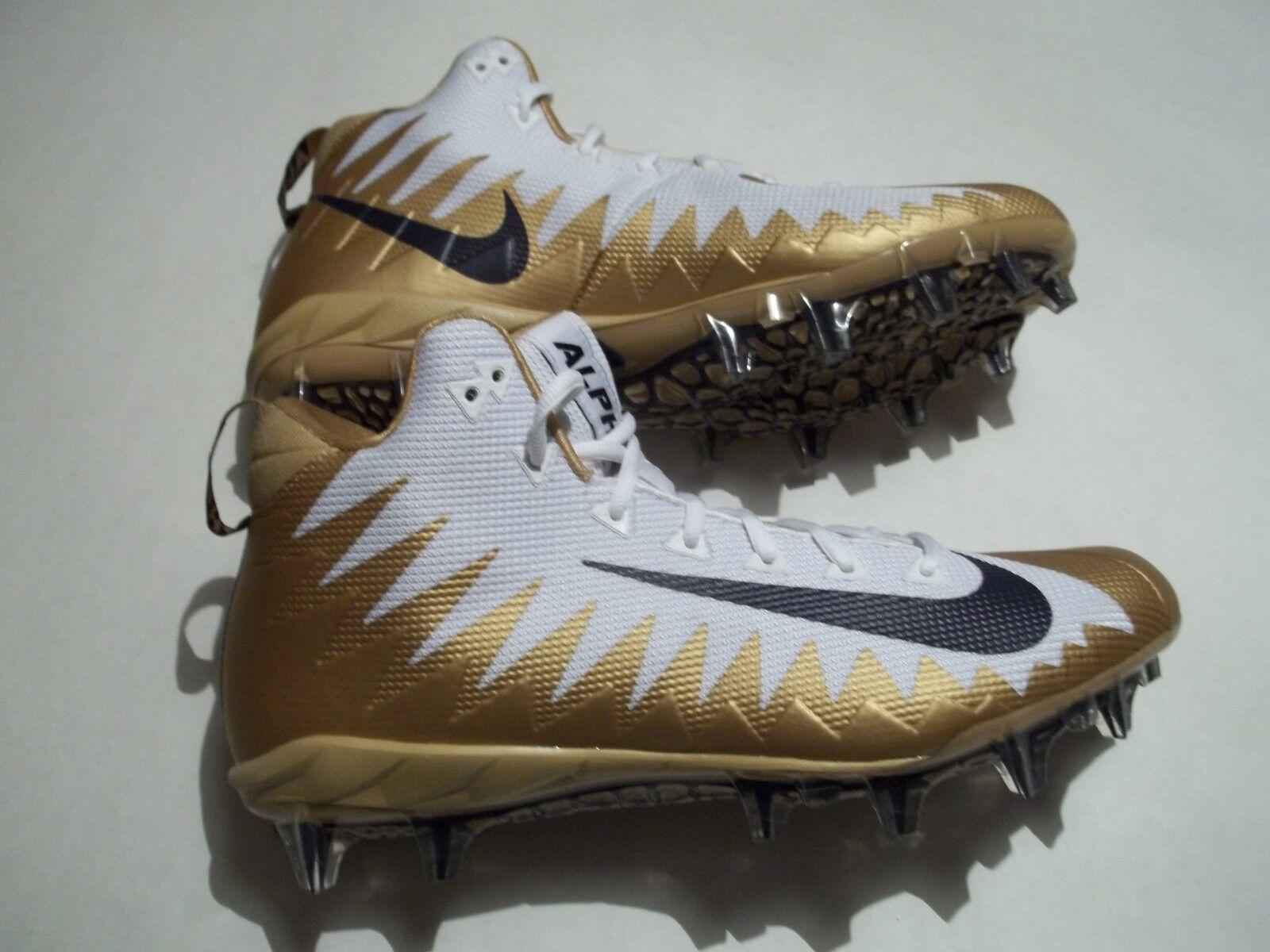 New Nike Alpha Menace Pro NFL Rams Men's Size 12 Football Cleats 866012-126