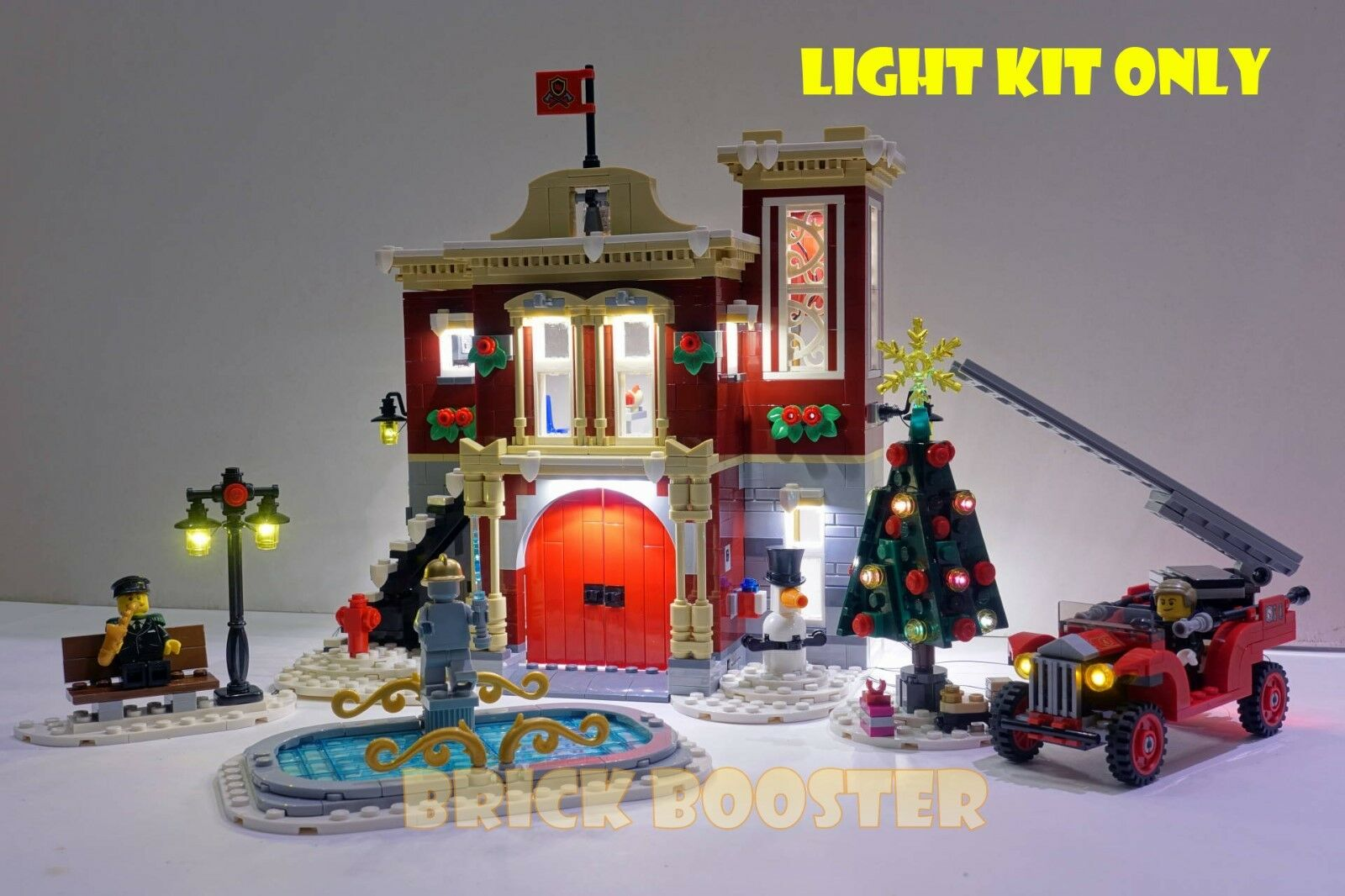 USB Powerot LED Light Kit for Lego 10263 Winter Village Fire Station