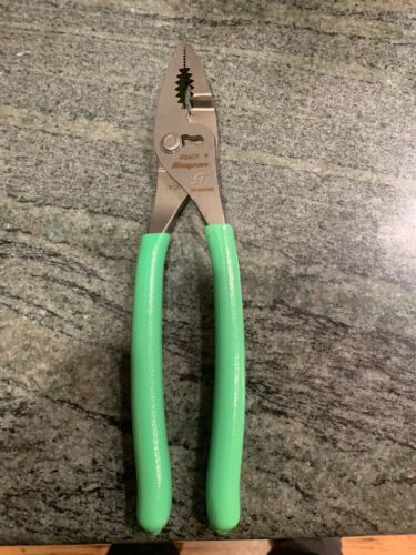 """Snap On Tools Large  Green Pliers 9"""" Combo Slip Joint 49ACF NEW"""