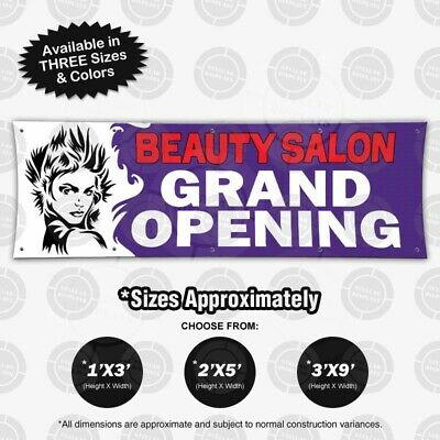 Beauty Salon Grand Opening Banner Vinyl Sign Hair Stylist Poster Boutique Shop Ebay