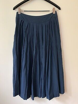 Women's Clothing Skirts Nsf Navy Cotton Skirt Size 4 Available In Various Designs And Specifications For Your Selection