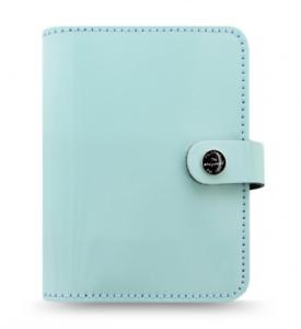 Filofax Pocket Organizer Leder A7 Terminplaner The Original Blau Ringbuch 026084
