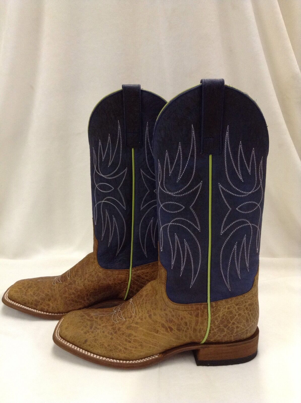 Men's Horsepower by Anderson Bean Tan Square Toe Boots, Sz 8