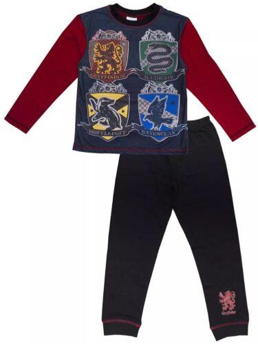 Harry potter hogwarts logos pyjamas older boys character red blue long pj/'s BNWT