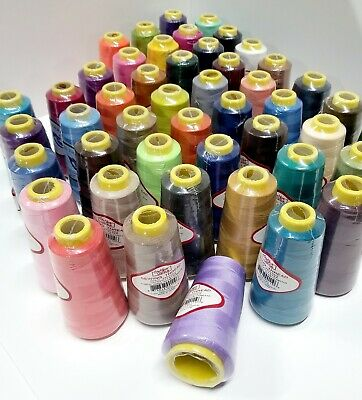 Big Spools Sewing Thread Embroidery Yards Polyester Colorful Serger Overlock