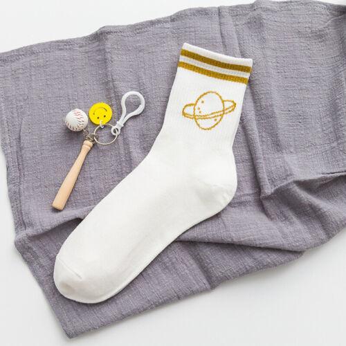 Femmes Filles me laisser seul chaussettes en coton à rayures Casual Harajuku Letter Word Chaussettes