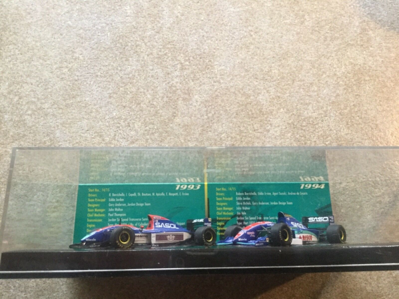 MINICHAMPS JORDAN HART 1993 1994 Set Model Cars