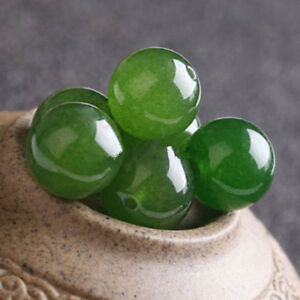 4-6-8-10-12-14mm-Natural-Nephrite-Green-Jade-Round-Gemstone-Loose-Beads-Y1779