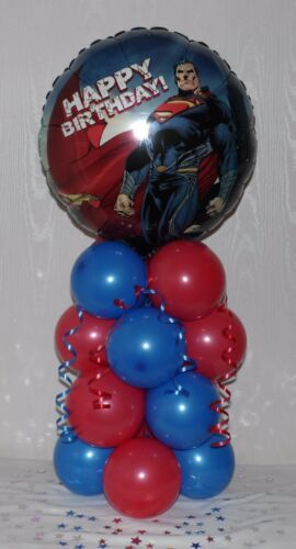 SUPERMAN AVENGERS BALLOON DISPLAY TABLE CENTREPIECE SUPER HEROES