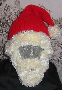 Image is loading PRINTED-INSTRUCTIONS-BEARDED-SANTA-HAT-SUPERFAST-KNITTING- PATTERN 383dd942165