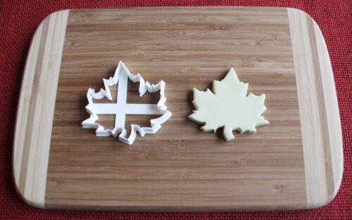 Maple Leaf Cookie Cutter Cake Topper Fondant Cutter Cupcake Topper Food