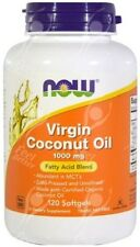 Now Foods Virgin Coconut Oil Cold Pressed 1000mg x120caps - IMMUNE SUPPORT!