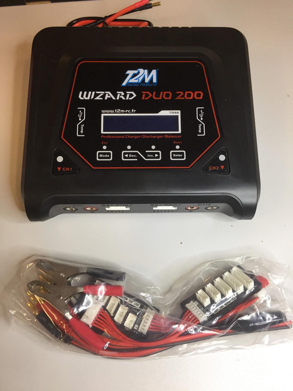T2m cargador Wizard Duo 200 t1244