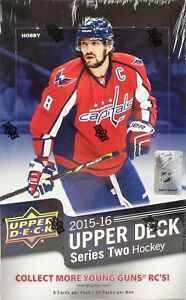 2015-16-UPPER-DECK-SERIES-2-HOCKEY-HOBBY-BOX-FACTORY-SEALED-NEW
